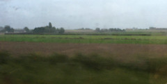 Misty Belgian countryside near Ypres