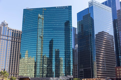 Der Wolkenkratzer 333 Wacker Drive in Chicago, wo Nuveen Investments sein Hauptquartier hat