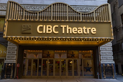The CIBC Theatre at 18 West Monroe Street in the Loop area of Downtown Chicago