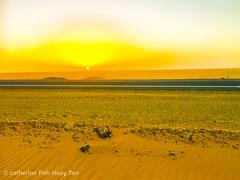 Luxor desert sunrise, Luxor, Egypt