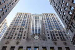 Chicago Board of Trade (CBOT) Building at south end of LaSalle Street in Chicago