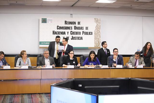14/10/2019 Reunión de Comisiones Unidas de Hacienda y Crédito Público y de Justicia