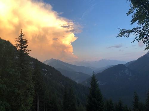 Ausblick von der Brunnsteinhütte nach Süden