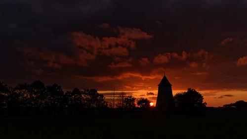 Sunset De Moeren Zonsondergang Sint-Gustaafsmolen