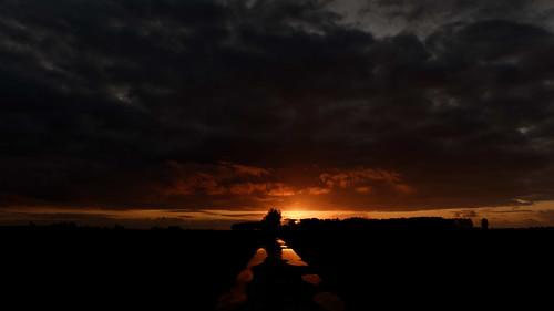 Sunset De Moeren Zonsondergang