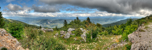 Rhône valley, view from Col du Grand Colombier, France