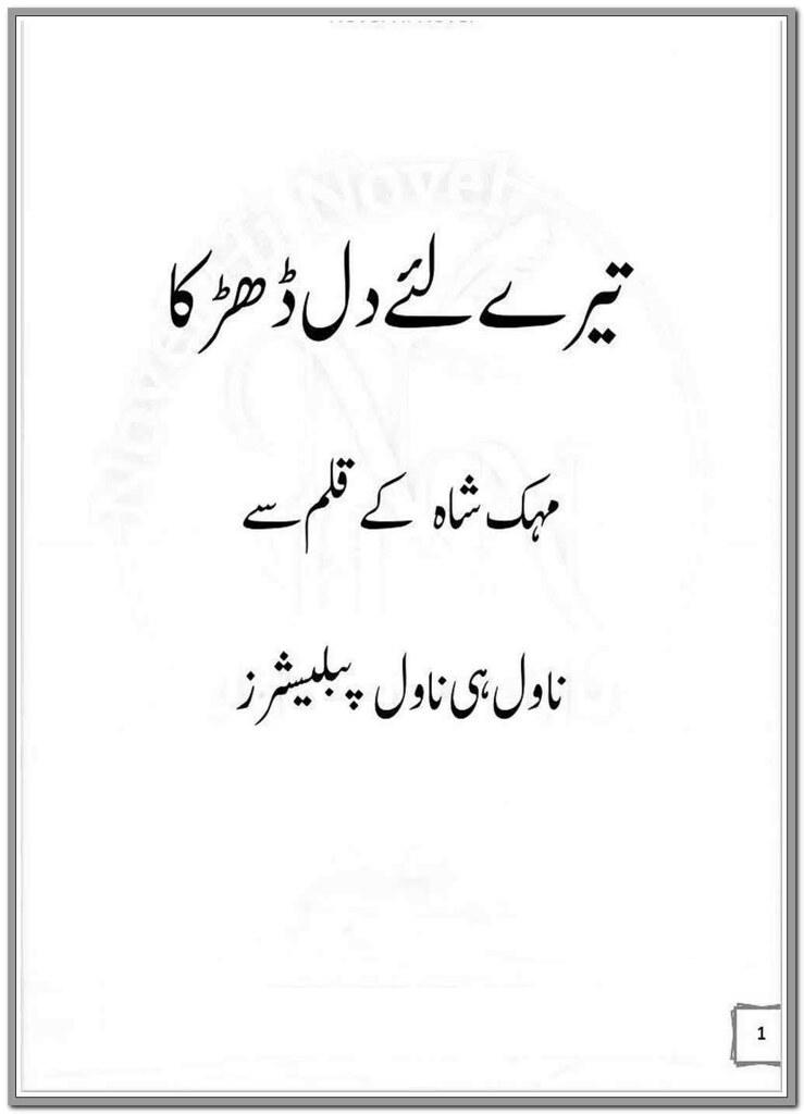 Tere Liye Hi Dil Dharka Complete Novel By Mehak Shah