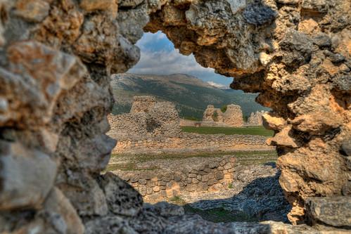 ancient Roman ruins of Peltuinum, Castelnuovo, Italia