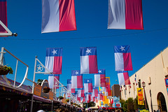 Texas flag banners