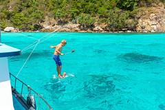 Crystal clear water of the Andaman Sea near the Racha Noi island near Phuket
