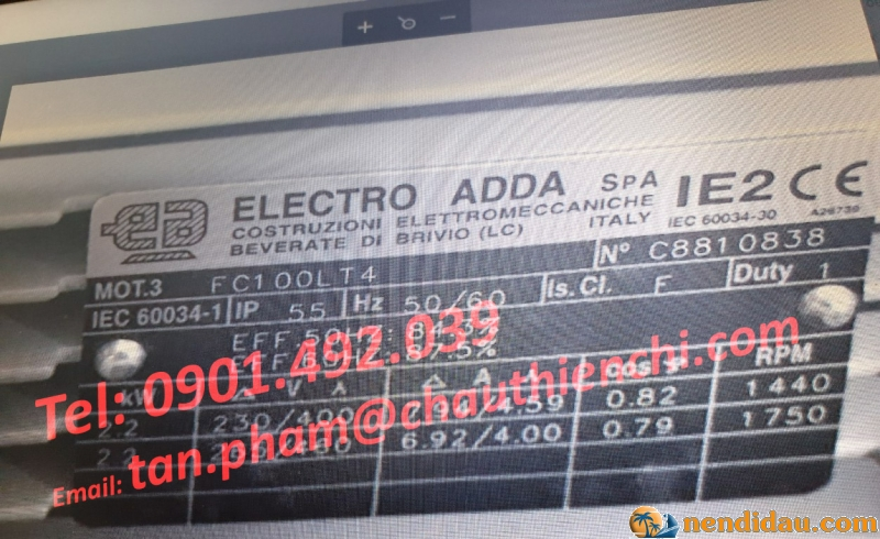 ĐỘNG CƠ ELECTRO ADDA FC100LT4 Đại lý