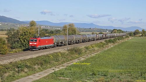 BR 185 032-0 Train 44225 Offenburg Gbh-Mulhouse Nord à Rouffach