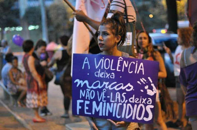 Brasil é apontado como 5º do mundo em número de feminicídios; em 2018, esse tipo de violência fez 1.206 vítimas no país - Créditos: Mídia Ninja
