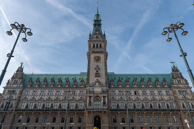 Aufm Rathausmarkt - Das Hamburger Rathaus in voller Pracht