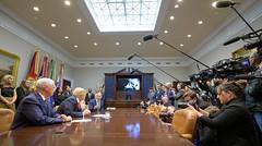 President Trump Calls Astronauts During First All-Woman Spacewalk (NHQ201910180014)