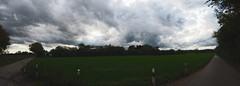 Panorama Herbst Landschaft mit Wolken | 18. Oktober 2019 | Ruhwinkel - Schleswig-Holstein - Deutschland