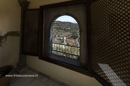 Raam in kasteel Castillo de Monda