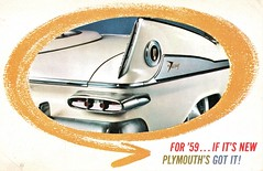 1959 Plymouth Announcement Postcard