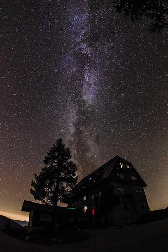 Milky Way over the Linzer Hut
