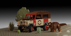 Land Rover Series III  Jurassic Park edition