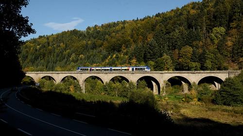 SNCF X76548 Fouday, La-Broche-Viadukt 13.10.2019
