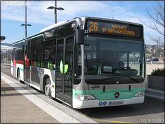 Mercedes-Benz Citaro – TPAS (Transports Publics de l'Agglomération Stéphanoise) (Veolia Transport) / STAS (Société de Transports de l'Agglomération Stéphanoise) n°317 - Photo of Le Chambon-Feugerolles