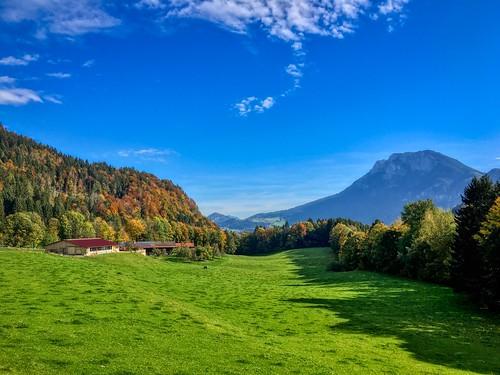 Breitenau landscape near Kiefersfelden, Bavaria, Germany