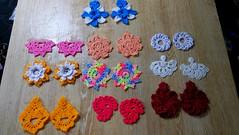 Aretes en crochet paso a paso, earrings crochet, mira la descripción 👇👇👇