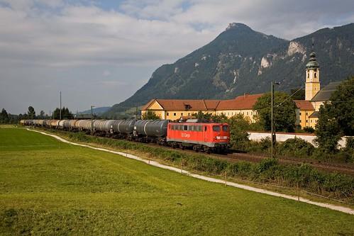 DB 140 002 + Güterzug/goederentrein/freight train - Oberaudorf