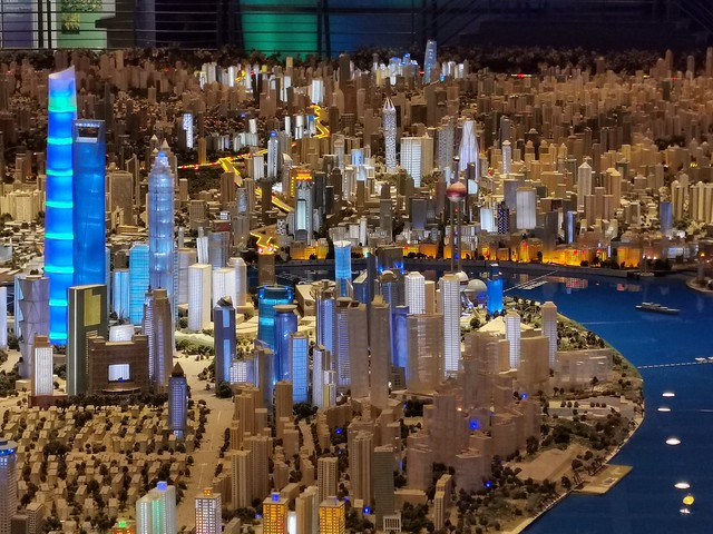 Model of Shanghai in Urban Planning Exhibition Center 2