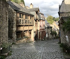 Dinan. Road to the old town.