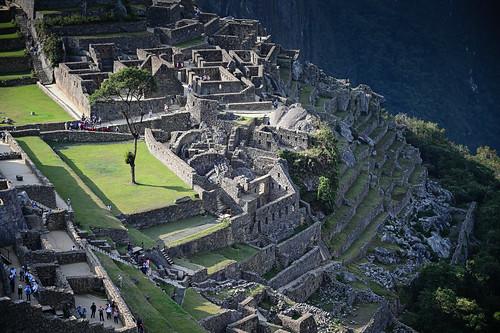 Factory houses in Inca Citadel Machu Picchu Peru