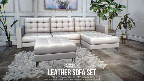 BackBone Leather Sofa Set