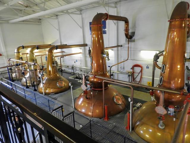 Stills at Talisker Distillery