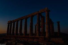 Temple of Poseidon During Sunset.