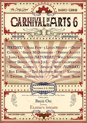 Carnival of the Arts 6 Line up UD