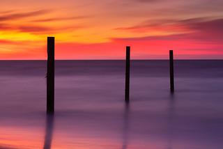 Three Sticks - Atlantic City Sunrise Long Exposure