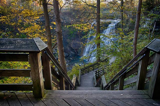 Stairs at Brandywine Falls