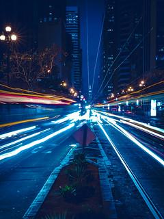 Light Trails On Market Street