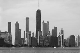 John Hancock Tower on the Chicago Skyline
