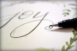 Hand-lettered Joy [Macro Mondays][Stationery]