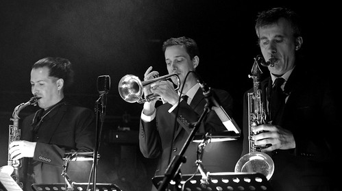 Plume (as) Fabien Mary (tp) David Sauzay (ts) Sarah MacKenzie Septet, Gouvy Jazz Festival, 03/08/2019, Sterpigny-Gouvy, Belgium