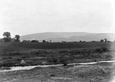 View of County Dublin Mountains, including a tram, Terenure, Co. Dublin