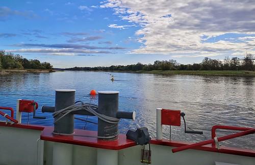 mitten auf der Elbe