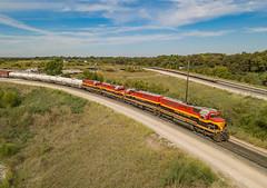 KCS 2600 (SD22ECO) Ex-TFM SDP40's Wylie, Texas