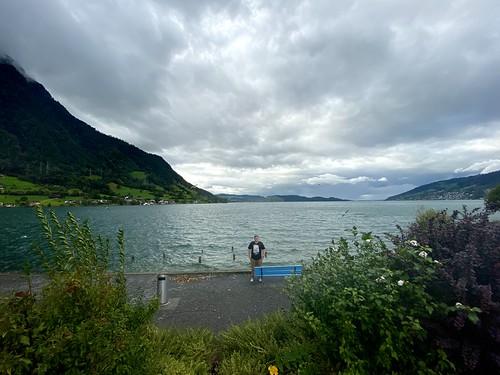 Blake and a Swiss Lake