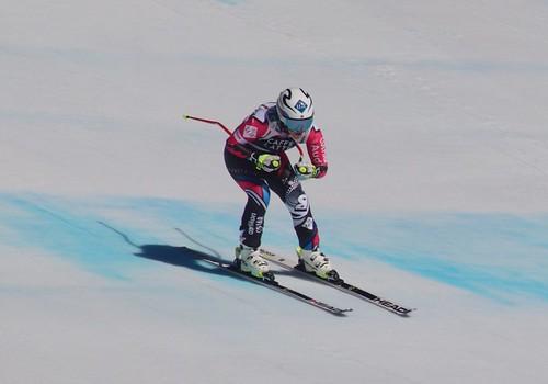Tina Weirather (LIE). Ski World Cup, Crans Montana, 23/02/2019