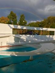 Rainbow over the penguin pool