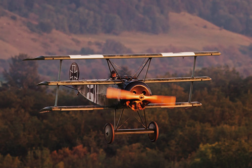Mikael Carlson in his Fokker Dr.1
