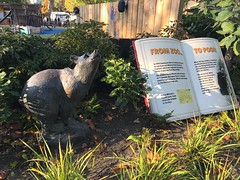 Winnie the Pooh sculpture at London Zoo